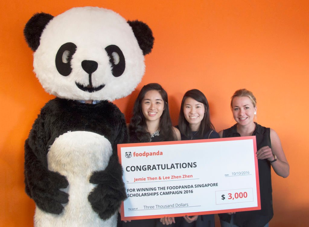 Meet the winners of the foodpanda scholarship 2016: Jemie Then & Zhen Zhen Lee